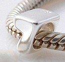 7 - Number - Sterling Silver Charm Bead - fits Pandora, Chamilia etc style Bracelets - SpangleBead