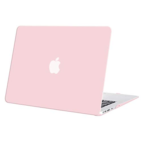 "Funda MacBook Air 13,TECOOL® Ultra Slim Cubierta de Plástico Duro Case Carcasa para MacBook Air 13"" modelo: A1466 y A1369 (Cuarzo rosa)"