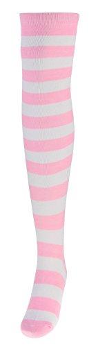 Socken Kostüm Gestreifte - Eozy Damen Gestreifte Kniestrümpfe Halloween Kostüm EU34-43 Farbe11