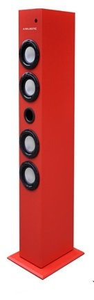 Majestic TS 84 BT USB SD AX Lautsprecher mit Bluetooth, USB/SD/AUX-IN, UKW-Radio, Fernbedienung, Rot -