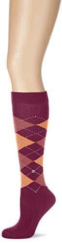 Burlington Damen Whitby Kniestrümpfe, Mehrfarbig (Grape 8711), 36/41 (Herstellergröße: 36-41)
