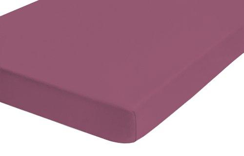 Castell 77113/140/041 Lenzuolo in jersey con angoli elasticizzati 140 x 200 cm - 160 x 200 cm, colore: Mora