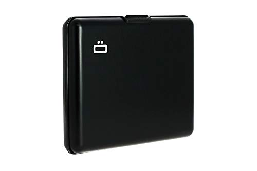 ÖGON Smart Wallets BS-Black Portefeuille Big Stockholm wallet Aluminium anodisé Noir