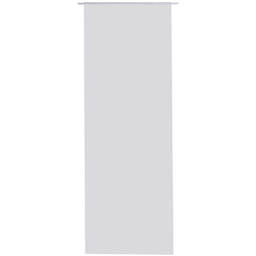 Flächen-vorhang blickdicht Schiebe-gardine Raumteiler Schiebe-vorhang ca.60cm x 245cm, Auswahl: ohne Zubehör, grau - hellgrau