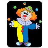 Kreuz Eyed Clown Jonglierbälle Premium Qualität Mauspad aus dickem Gummi eine angenehm weiche Oberfläche