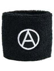 Digni® Poignet éponge avec drapeau Anarchie