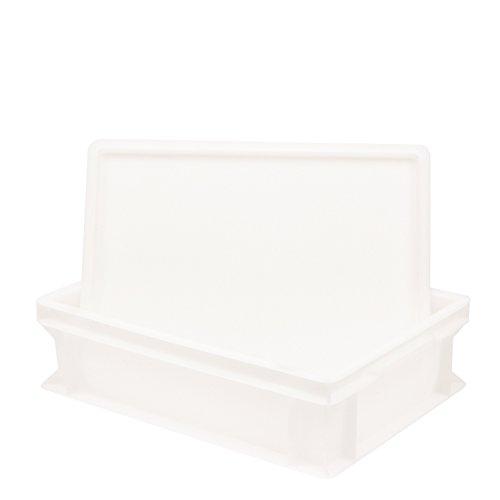 Pimotti Pizzaballenbox (1er Set mit 1xDeckel) mit 30 x 40 x 12 cm, Kunststoffbehälter für Pizzateig, Stapelbehälter, Gärbox
