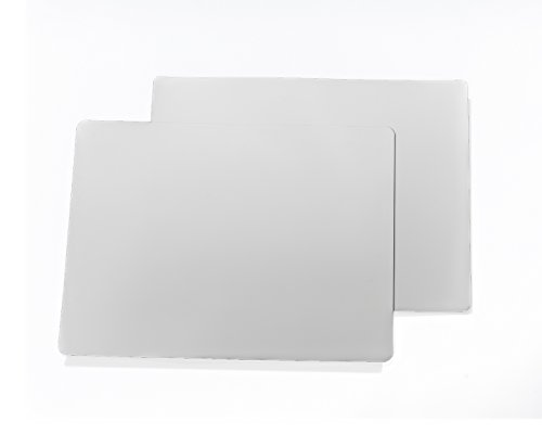 2- 18x24 30 MIL Matte Whitte CAR Sign Blanks by Discount Magnet (Magnum Matte)