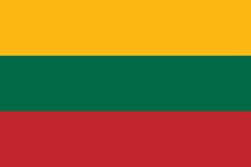 magFlags Flagge: XXS Litauen | Querformat Fahne | 0.24m² | 40x60cm » Fahne 100% Made in Germany