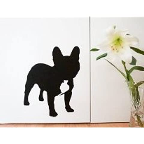 Perro de pared adhesivo, vinilo decorativo para pared, diseño de perro Bulldog francés pegatinas de pared Decor, elija el color elección