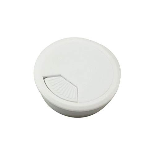 Vosarea 50 mm Kabeldurchführungen für den Schreibtisch Zuhause Büro 5 Stück (weiß) -