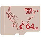 BRAVEEAGLE micro SD-Karte 64 GB U3 microSDXC Speicherkarte UHS-I Flash Speicherkarte maximale lesen...