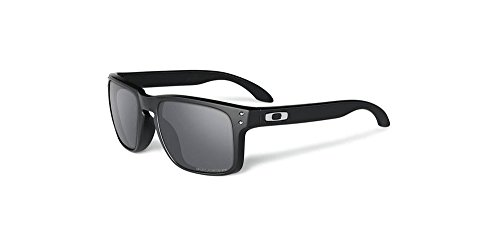 Oakley Men's Holbrook Sunglass, Polished Black/Black Iridium Polarized