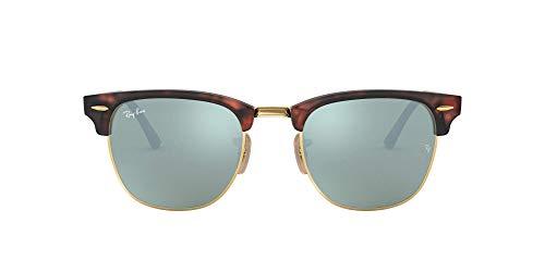 Ray-ban - clubmaster, occhiali da sole, unisex-adulto, marrone (sand havana/gold), 51 mm