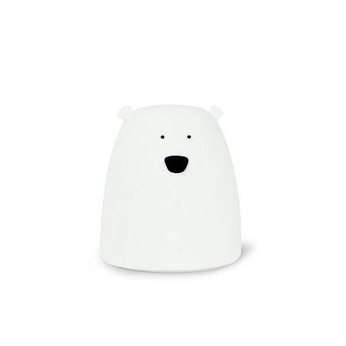 Pddxbb lampada da notte in silicone luce notturna orso lampada per bambini lampada da notte camera da letto ragazzo regalo luce giocattolo riduttore di pressione bianco 8,8 * 8,8 * 10,3 cm