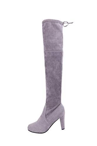 Tookang Cómodo Moda Botas Altas para Mujer Forrada Largo Zapatos sobre la Rodilla