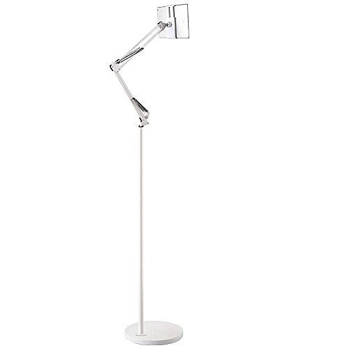 ß, 360 Grad Verstellbarer Standfuß-Halter Anwendbar: iPhone6s, iPhone6s Plus, iPad Mini, iPad air Starker Flexibler Arm,White,1.7m ()