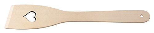 Fackelmann Pfannenwender Herz 30 cm, Wender aus Buchenholz, Küchenhelfer für beschichtete Pfannen und Töpfe (Farbe: Braun), Menge: 1 Stück