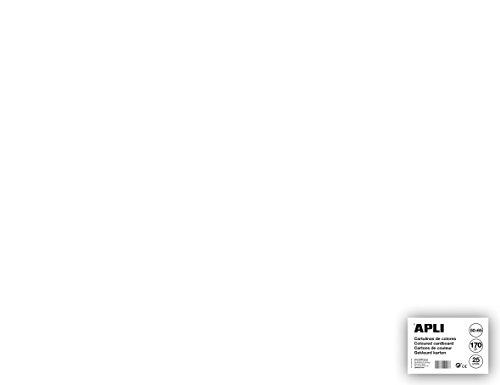 APLI 14254 - Cartulina blanca 50 x 65 cm 170 g 25 hojas