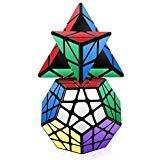 Roxenda Speed Cube Set, Cubo Mágico Puzzle Pack - 2x2x2 3x3x3 Cube, Super-Durable con Colores Vivos, Fácil de Tornear y Liso Jugar (T5)