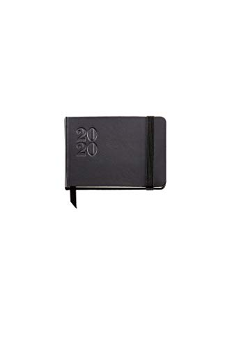 Miquelrius 32307 - Agenda 2020, settimanale orizzontale (105 x 74 mm), tascabile, agora nero, catalano