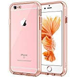 JETech Case for Apple iPhone 6 Plus and iPhone 6s Plus, Shock-Absorption Bumper Cover, Anti-Scratch Clear Back, Rose Gold