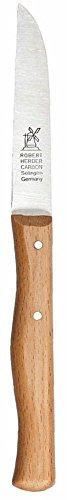 üsemesser mit gerader Klinge, langer 85 mm Griff aus Buche (Herder Messer)
