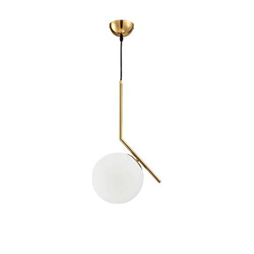 Glaskugel-Kronleuchter/Hängelampe/Pendelleuchte, Restaurant-Bar-Theke Schlafzimmer Einzelkopf Mode Kunst Kleine Pendelleuchte, BOSS LV, 36 × 60 cm