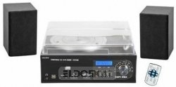 Majestic TT 38N CD TP USB SD - Giradischi 33/45/78 giri, lettore CD/MP3, radio, cassetta, Ingresso USB/SD recorder, Nero