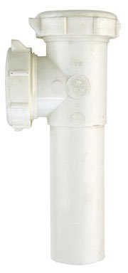 Keeney 125W End Outlet Tee & Tailpiece, Slip Joint, 1-1/2 with Baffle Tee, White by Keeney -