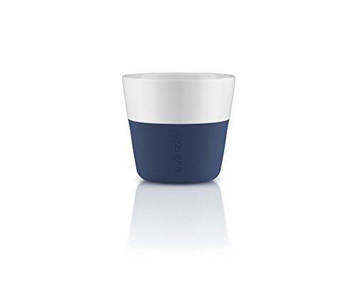 Eva Solo 5706631162876 Lungo-Becher, Silikonschale, 230 ml, Porzellan, Navy blau, 8,5 x 8,5 x 8 cm,...