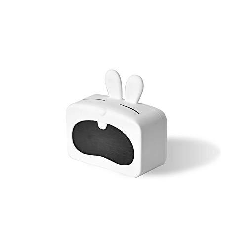 DDGOD Mini Digitaler wecker,Multifunktion Uhr Leise Schreibtisch Schlafzimmer Mit Kalender Temperatur Akku-Powered Karton LED Wecker-B 10x5x10cm(4x2x4in) - Temperatur Schreibtisch-uhr Mit