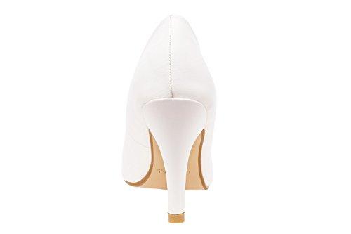 Andres Machado - AM422 - Klassischer Damenschuh aus verschiedenen Materialien und Farben Braut Weiss