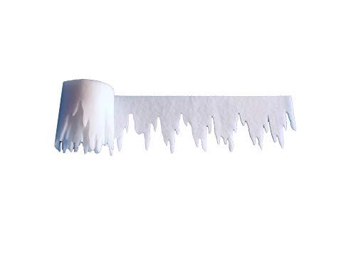 pemmiproducts Eiszapfen aus Schneewatte 475 x 30 x ca.2 cm 3er Pack, Gesamtlänge: 14,25 m (EUR 2,04/m), schwer entflammbar DIN 4102 B1 -