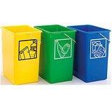 PLASTICOS HELGUEFER - Pack 3 Cubos ecológicos selectivos