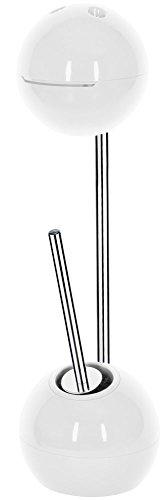 """Spirella WC Bürste Rollenhalter \""""Freestyler\"""" WC Garnitur 19,5x70cm Weiß"""