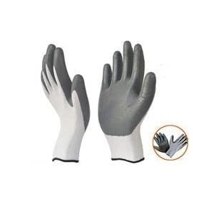 Safety Store Coated Hand Gloves 1 Pair , Color White And Gray