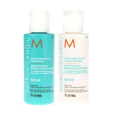MoroccanOil Moisture Repair Shampoo and Conditioner Duo 70ml Travel or Trial Pack