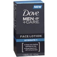 Dove Men + Care Face Lotion Hydrate, 1.69 Oz (Pack of 2) by Dove Men + Care -