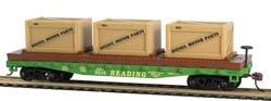 Model Power HO 40 Flat w/Crates, RDG CSM727002