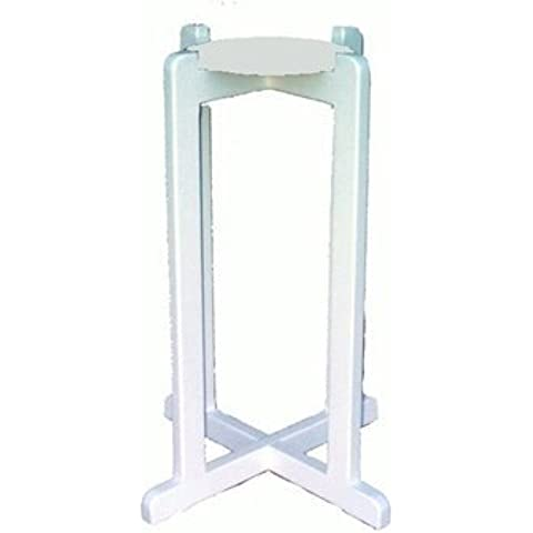 Ceramic Crock White Solid Wood Floor Stand by Water Supplies Warehouse - Water Crock