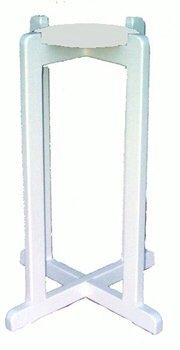 Ceramic Crock White Solid Wood Floor Stand by Water Supplies Warehouse White Crock