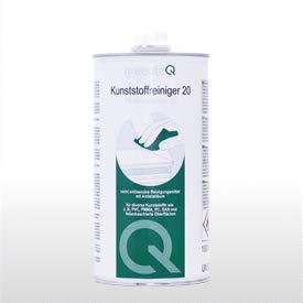 greenteQ ' PVC Reiniger 20 ' 1 Liter Kunststoff Reinigungsmittel Fenster- und Türenreiniger Spezial 1Liter