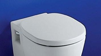 Ideal Standard E791701 White Concept Soft Close Toilet Seat and Cover by Ideal Standard