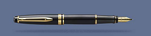 Waterman Expert - Penna stilografica, colore: Nero 18K M