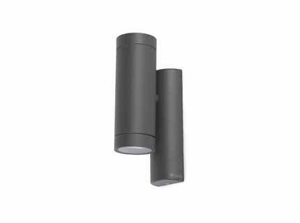 Faro Barcelona Steps 75501-Wandleuchte, 35W, Aluminium und Diffusor aus gehärtetem Glas, Grau -