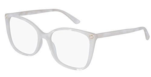 Gucci Frame - WHITE-WHITE-TRANSPARENT