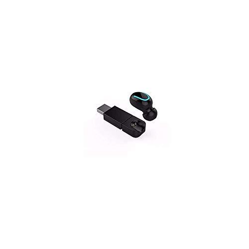 Mini-Bluetooth Kopfhörer Hi-Fi Stereo 4.2 Headset Kabellose In-Ear-Stereo-Ohrhörer Sport-In-Ear-Stereo-Telefon mit Kopfhörer Sport Drahtlose Bluetooth HD-Klangqualität mit USB-Ladegerät (Black) - - Taste Stereo