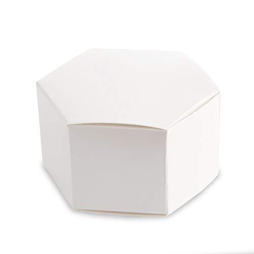 Bulk Buy: Darice DIY Crafts Favor Box Sechseck Pearl Weiß 12Stück (6er Pack) 1404-13
