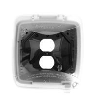 Intermatic WP5221C Electrical Box, 2.25 Single/Double Gang Plastic While-In-Use Weatherproof Vertical Cover w/Single Gang Duplex & GFCI Inserts- Clear by Intermatic - Na Electrical Box Cover